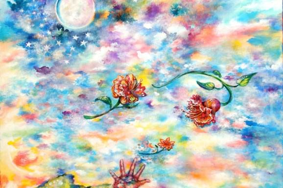 THROWING FLOWERS TO THE MOON